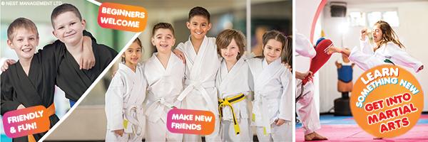 Bunch of kids karate
